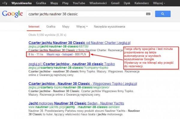 Promocja ofert specjalnych w Google za pośrednictwem systemu rezerwacji ResGo